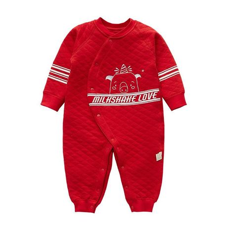 Newborn baby clothes baby newborn baby jumpsuit autumn and winter clothes cotton climbing suit out clothes NHQE184326's discount tags
