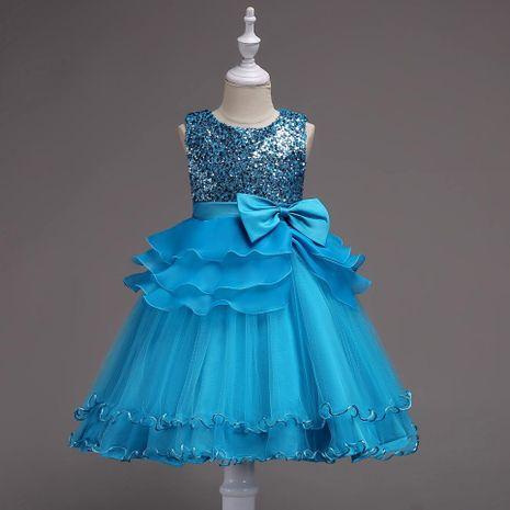 Children's clothing wedding dress girls sequin princess pettiskirt children's mesh gown NHTY184235's discount tags