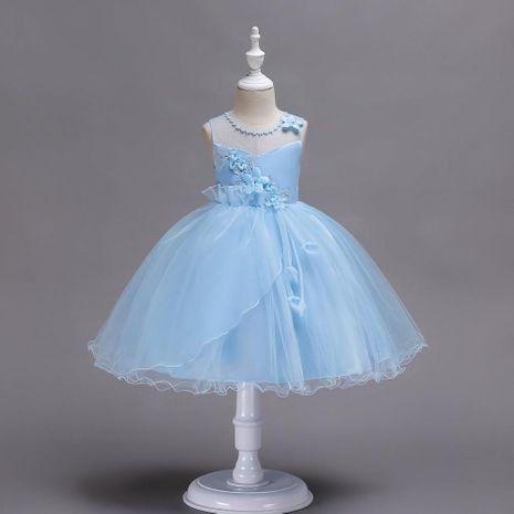 Dress Children Lace Skirt Princess Net Gown Dress Skirt Sleeveless Dress Small Host Performance Dress NHTY184230's discount tags