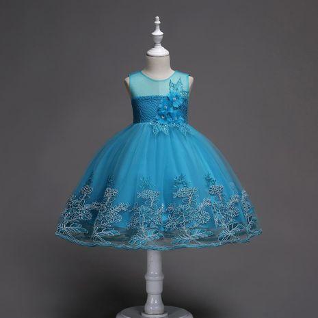 Children's Sleeveless Dress Skirt Princess Print Dress Flower Girl Net Gown Puff Evening Dress NHTY184234's discount tags