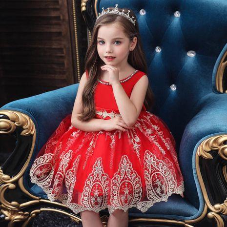 Children's dress children's catwalk evening dress girls princess pettiskirt flower girl wedding dress NHTY184237's discount tags