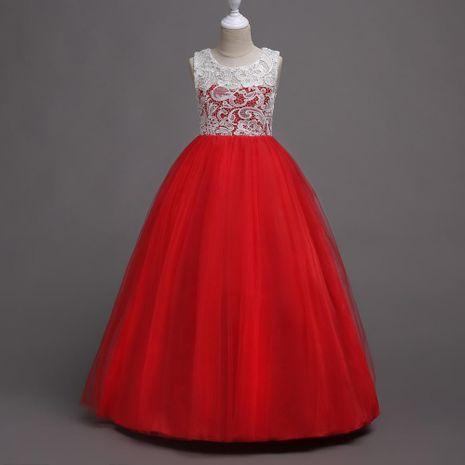 New children's skirt girls princess skirt children's dress skirt high waist lace fluffy flower skirt skirt NHTY184238's discount tags