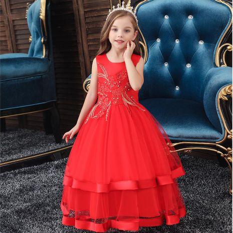 Autumn and winter new children's dress girls long princess pettiskirt Christmas NHTY184239's discount tags