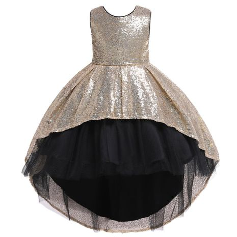 Girls' Sequined Dress Skirts Children's Tailor Puff Princess Dresses Girls Wedding Flower Girl Dresses NHTY184298's discount tags