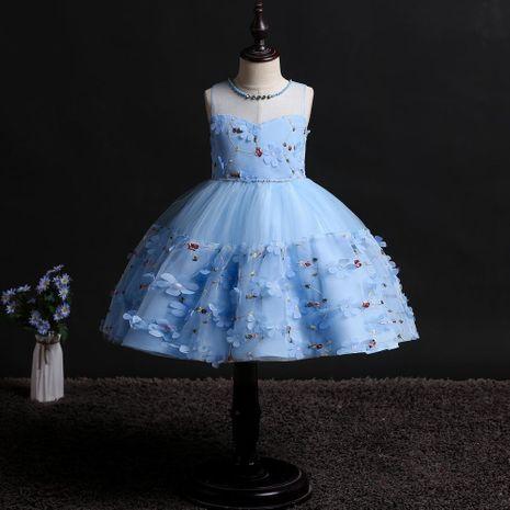 Nouvelles filles princesse robe enfants floral petite fée robe fleur fille robe enfants robe NHTY184311's discount tags