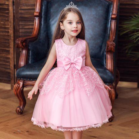 Robe de demoiselle d'honneur fille princesse jupe enfants défilé de mode robe NHTY184215's discount tags