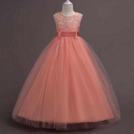 Children's skirt Korean spring children's clothing girl dress long lace high waist princess dress skirt wholesale NHTY184219's discount tags