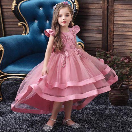Robe de mariée pour enfants robe de queue de fille jupe princesse pettiskirt NHTY184221's discount tags