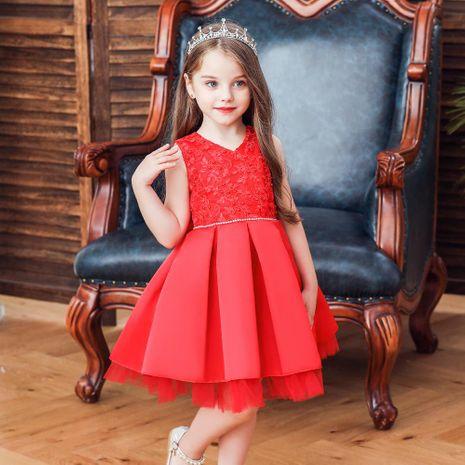 Nouveaux enfants robe filles princesse pettiskirt fleur fille robe de mariée enfants robe NHTY184224's discount tags