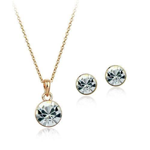 Fashion Simple Inlaid Austrian Crystal Luxury Jewelry Set High-end Jewelry Wholesale NHLJ184563