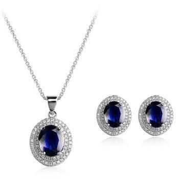 Vintage Zircon Set Exquisite Necklace Earrings Two Piece Noble Bridal Jewelry Wholesale NHLJ184594