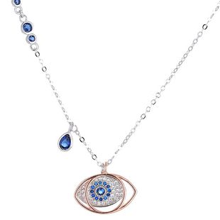 Stylish Sweet OL Classic Devil's Eye Personality Necklace NHSC184431's discount tags