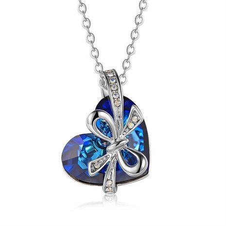 À la mode vente chaude collier de cristal autrichien avec amour arc cristal pendentif collier NHLJ184556's discount tags