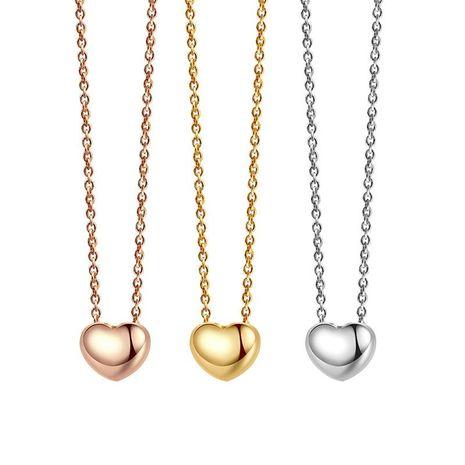 Mode coréenne Simple coeur pendentif alliage de haute qualité collier classique vente chaude Style NHLJ184587's discount tags