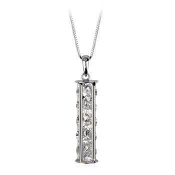 Popular new necklace shiny alloy zircon pendant jewelry wholesale NHLJ184591