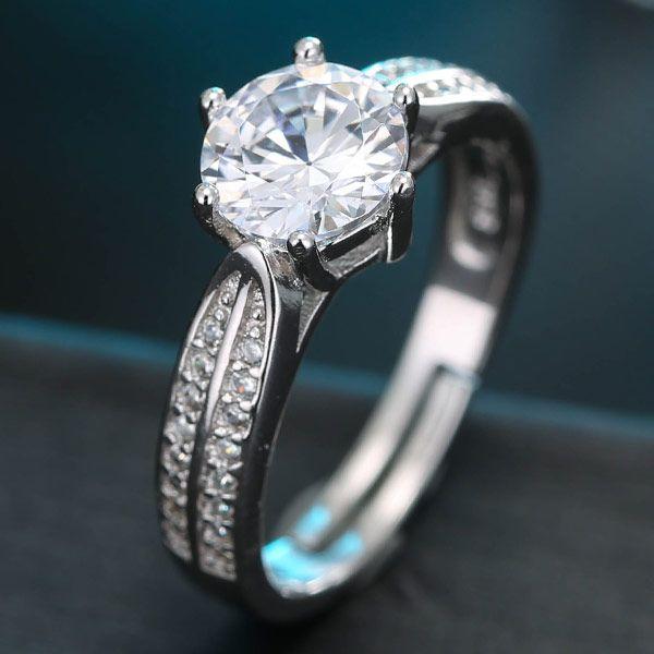 J481 exquisite Korean fashion sweet zircon temperament ring NHSC184450
