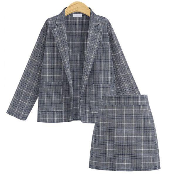 2019 autumn new large size small suit jacket skirt fashion suit women NHJC184103