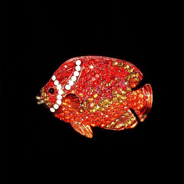Enamel Tropical Fish Brooch Corsage Scarf Buckle Brooch Pendant NHIM184511