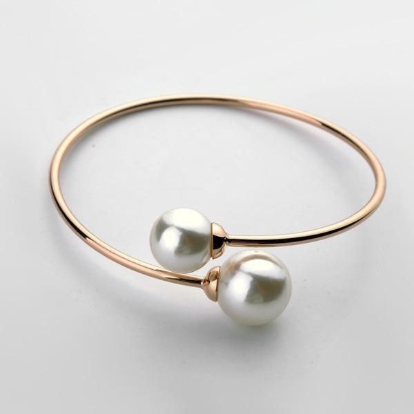 Fashionable beautiful open pearl bracelet NHLJ184580