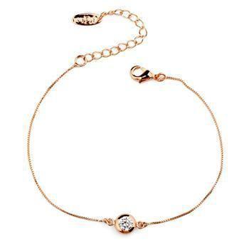 Korean fashion trend single diamond bracelet simple jewelry new jewelry NHLJ184589