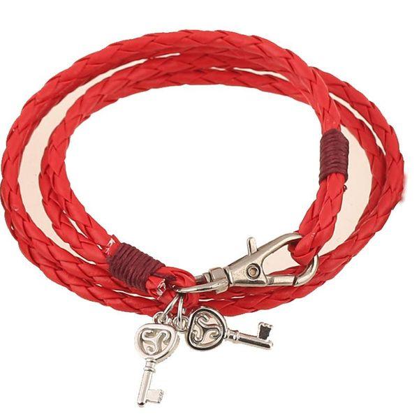 Moda nueva pulsera de cuero de estilo étnico tejida a mano pulsera de aleación retro pulsera brazalete NHPK184600