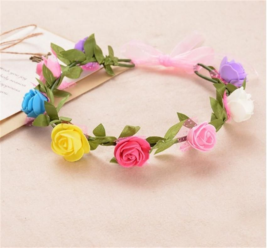 South Korea foreign trade original single big flower headband flower girl bride garland headdress photography accessories children hair accessories NHTY184301