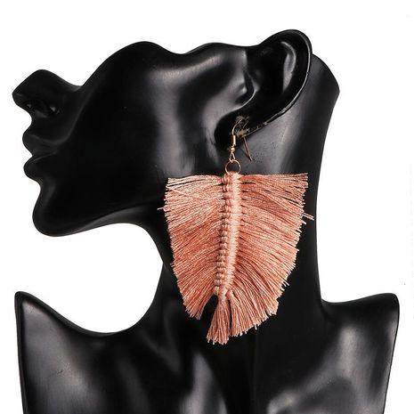 Pendientes con borlas geométricas hechas a mano pendientes cuadrados retro femeninos mujeres bohemias NHJJ184678's discount tags