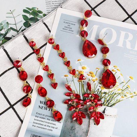 Pendientes largos rojos retro pendientes nuevos de mujer pendientes simples y elegantes NHJJ184679's discount tags