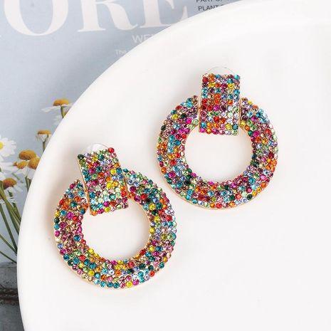 Nuevos pendientes geométricos pendientes largos de color pendientes mujeres NHJJ184684's discount tags