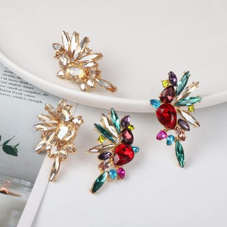 New stud earrings color diamond earrings fashion jewelry wholesale NHJJ184698's discount tags