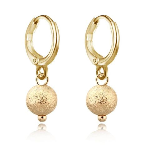 New fashion non-open ear ring gold and silver ball earrings NHGO184701's discount tags
