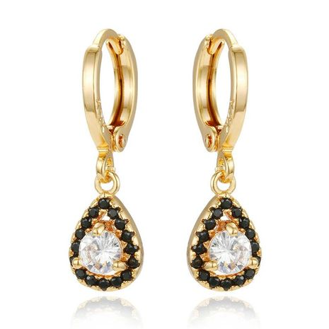 New personality mini earrings drop round zircon earrings NHGO184707's discount tags