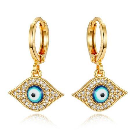 Aretes para mujer turcos vintage de mal de ojo Mini pendientes pequeños de circonita NHGO184709's discount tags