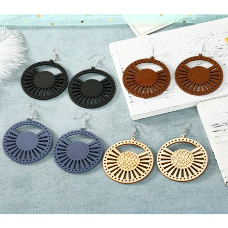 New Exaggerated Cutout Round Earrings wholesales fashion NHGO184719's discount tags