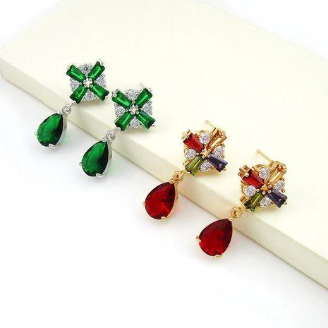 Diamond Cross Flower Zircon Aretes para mujer con forma de gota Mujeres al por mayor NHLJ184552's discount tags