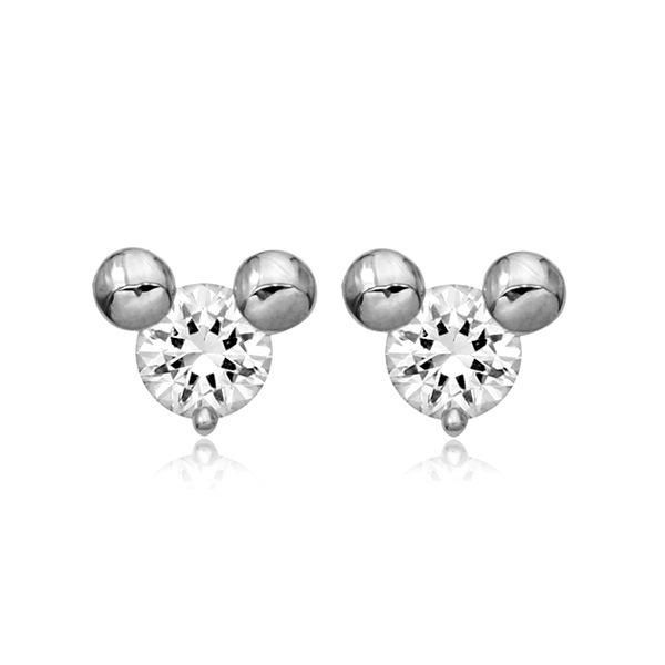 Korean new creative small inlaid zircon cartoon Mickey earrings fashion cute earrings women NHLJ184592