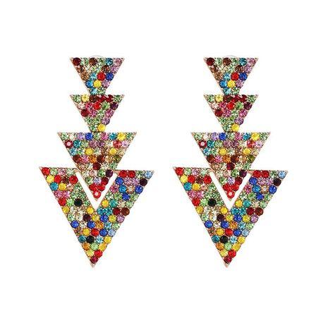 Nuevos pendientes geométricos de triángulo para mujer Pendientes de joyería de diamantes de imitación de metal al por mayor NHJJ184675's discount tags