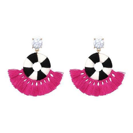 Nuevos pendientes de borla étnicos bohemios que venden joyas con forma de C NHJJ184689's discount tags