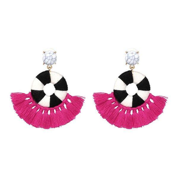 New Bohemian Ethnic Tassel Earrings Selling C-shaped Ear Jewelry NHJJ184689