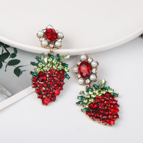 New fruit strawberry stud earrings wholesale NHJJ184694's discount tags
