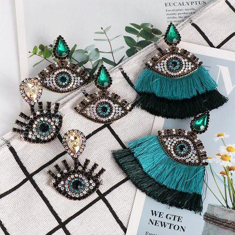Nuevos Pendientes de borla de ojo de diamante Pendientes de ojo de diablo NHJJ184681's discount tags