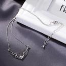 Retro necklace womens simple diamond wings pendant temperament wild pearl short clavicle chain NHQD184671