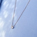 Diamond Necklace Pendant 18k Rose Gold Genuine Clavicle Chain Color Gold Women Earth New NHIM184517