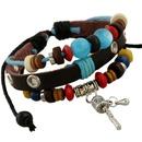 New fashion jewelry leather bracelet wholesale beaded bracelet jewelry NHPK184607