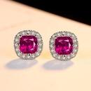 Korean fashion simple colored zircon earrings women selling earrings NHLJ184576
