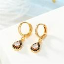 New personality mini earrings drop round zircon earrings NHGO184707