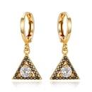 New delicate mini earrings gold and silver triangle zircon earrings NHGO184711