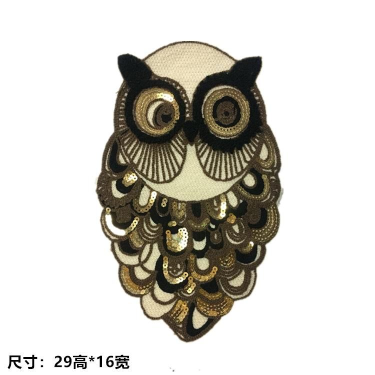 Hook hair embroidery owl cloth sticker clothes patch towel embroidery badge NHLT184876