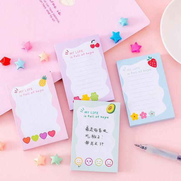 Student notepad portable message can be torn with n sticky post-it notes stationery NHKU184754