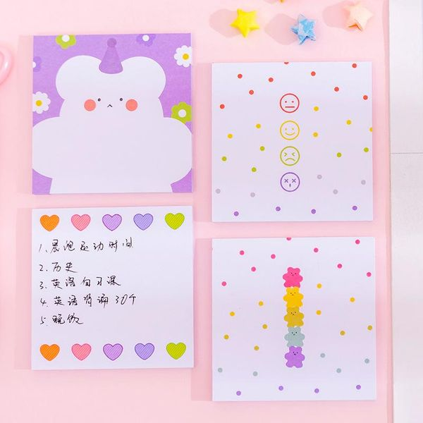 Little flower candy bear post-it note n times cute stickers NHKU184756